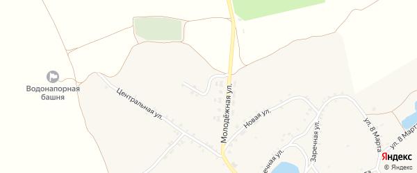 Полевой переулок на карте села Душкино с номерами домов