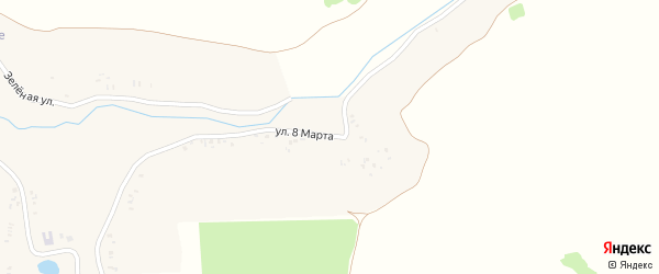 Улица 8 Марта на карте села Бутовска с номерами домов