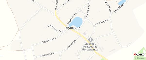 Садовый переулок на карте села Душкино с номерами домов