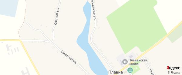 Первомайская улица на карте деревни Плавны с номерами домов