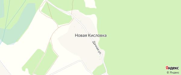 Дачная улица на карте деревни Новой Кисловки с номерами домов