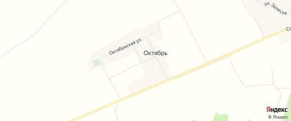 Карта поселка Октября в Брянской области с улицами и номерами домов