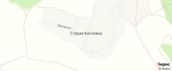 Речная улица на карте деревни Старой Кисловки с номерами домов