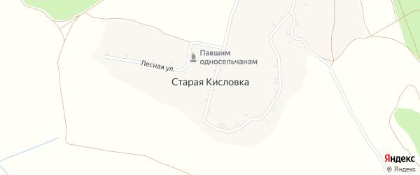Лесная улица на карте деревни Старой Кисловки с номерами домов