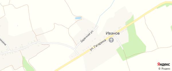Заречная улица на карте поселка Иванова с номерами домов