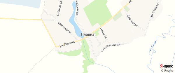 Карта деревни Плавны в Брянской области с улицами и номерами домов