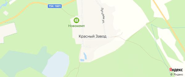 Карта поселка Красного Завода в Брянской области с улицами и номерами домов