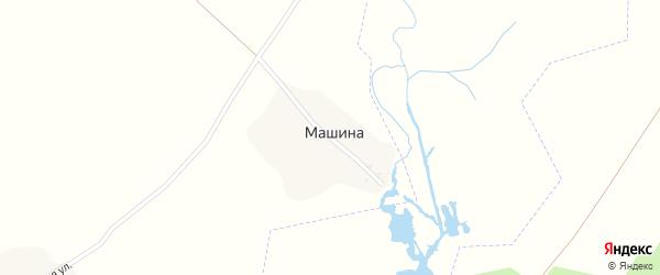 Озерная улица на карте поселка Машиной с номерами домов