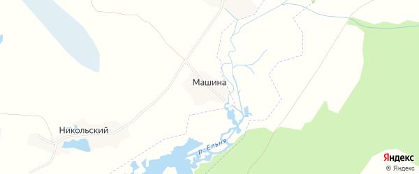 Карта поселка Машиной в Брянской области с улицами и номерами домов