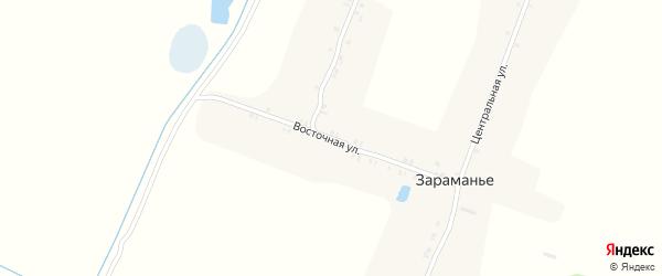 Восточная улица на карте поселка Зараманьего с номерами домов