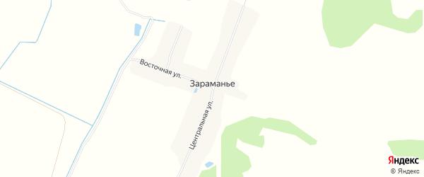 Карта поселка Зараманьего в Брянской области с улицами и номерами домов