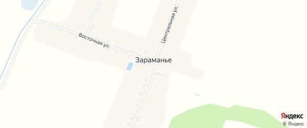 Улица Гагарина на карте поселка Зараманьего с номерами домов