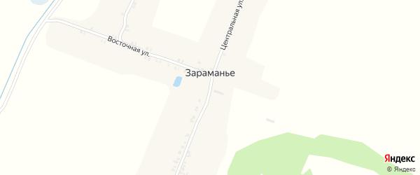Центральная улица на карте поселка Зараманьего с номерами домов