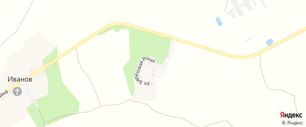 Улица Березовая роща на карте поселка Иванова с номерами домов