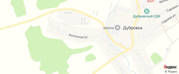Колхозная улица на карте села Дубровки с номерами домов