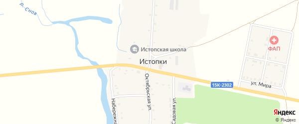 Октябрьская улица на карте села Чернооково с номерами домов