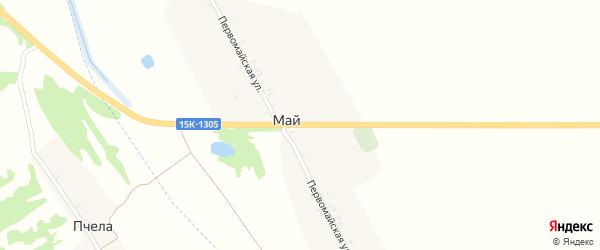 Первомайская улица на карте поселка Мая с номерами домов