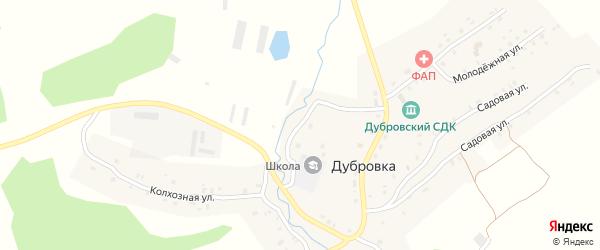 Школьный переулок на карте села Дубровки с номерами домов