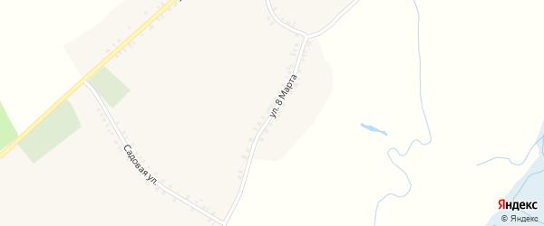 Улица 8 Марта на карте села Курозново с номерами домов