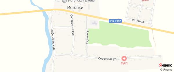 Садовая улица на карте села Истопки с номерами домов
