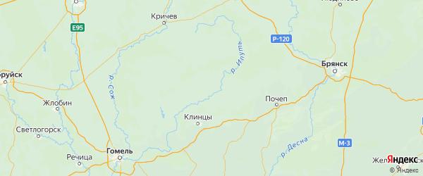 Карта Суражского района Брянской области с городами и населенными пунктами
