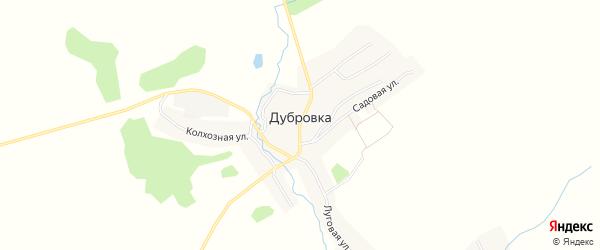 Карта села Дубровки в Брянской области с улицами и номерами домов