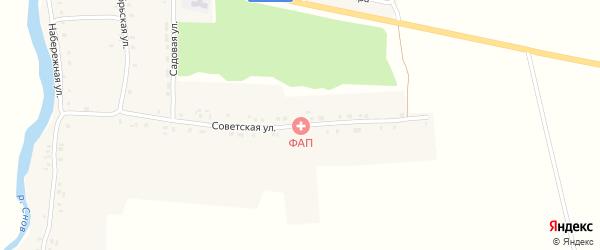 Советская улица на карте села Истопки с номерами домов