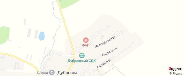 Пролетарская улица на карте села Дубровки с номерами домов