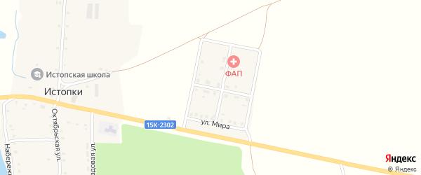 Молодежная улица на карте села Истопки с номерами домов