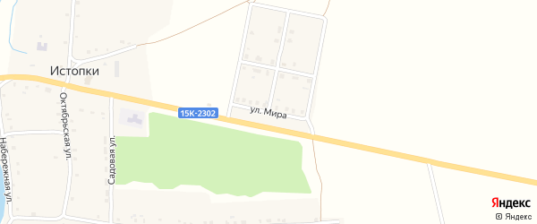 Улица Мира на карте села Истопки с номерами домов
