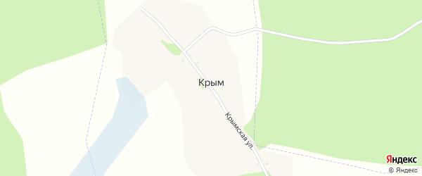 Крымская улица на карте поселка Крыма с номерами домов