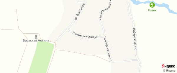 Нечвидновская улица на карте села Брахлова с номерами домов