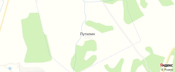 Карта поселка Путилина в Брянской области с улицами и номерами домов