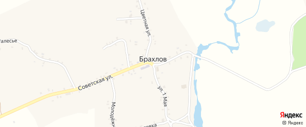 Октябрьский переулок на карте села Брахлова с номерами домов