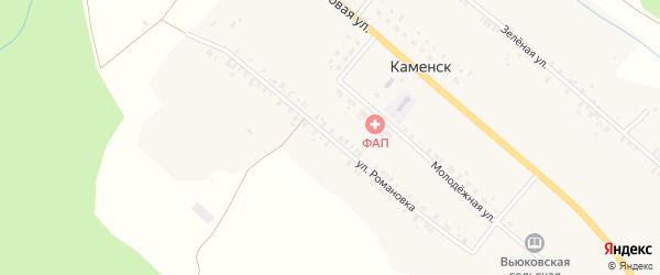 Улица Романовка на карте деревни Каменска с номерами домов