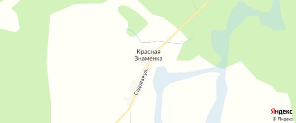 Карта деревни Красной Знаменки в Брянской области с улицами и номерами домов