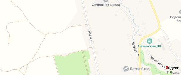 Новая улица на карте села Овчинца с номерами домов