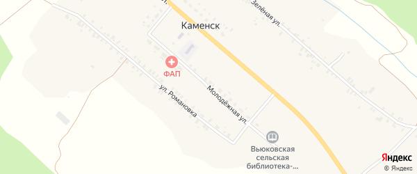 Молодежная улица на карте деревни Каменска с номерами домов