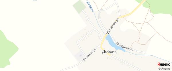 Владикавказская улица на карте деревни Добрика с номерами домов