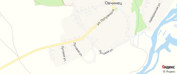 Луговая улица на карте села Овчинца с номерами домов