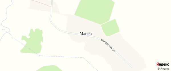 Маневская улица на карте поселка Манева с номерами домов