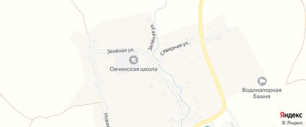 Зеленая улица на карте села Овчинца с номерами домов