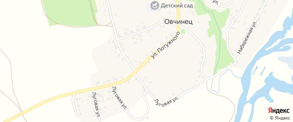 Улица Потужного на карте села Овчинца с номерами домов