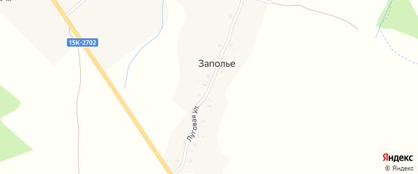 Луговая улица на карте поселка Заполья с номерами домов