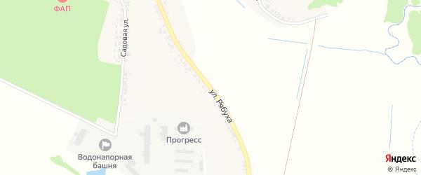 Улица Рябуха на карте села Медведово с номерами домов