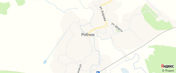 Карта села Робчика в Брянской области с улицами и номерами домов