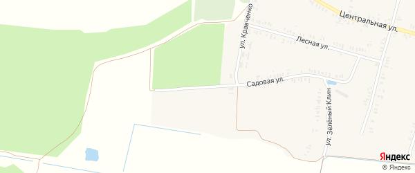 Садовая улица на карте села Павличей с номерами домов