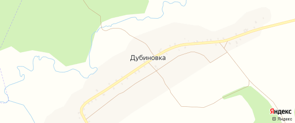 Улица Гагарина на карте деревни Дубиновки с номерами домов