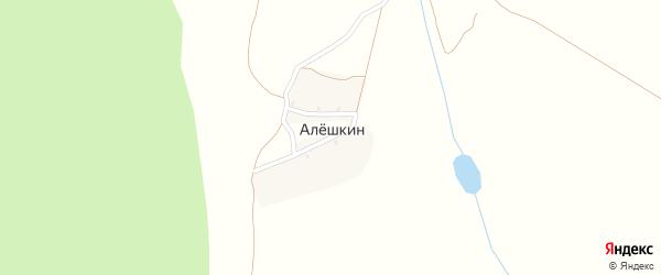 Лесная улица на карте поселка Алешкина с номерами домов