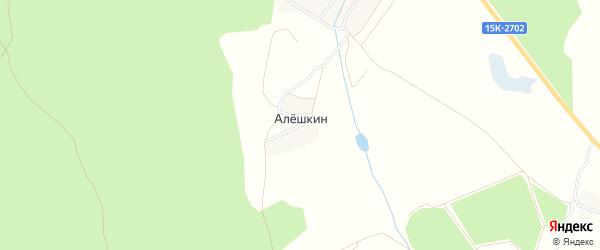 Карта поселка Алешкина в Брянской области с улицами и номерами домов